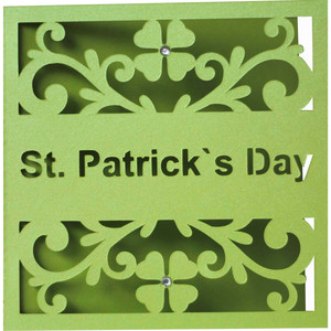 5x5 st. patrick`s day card