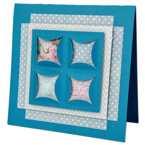 cathedral window quilt block card