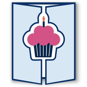 gatefold card - cupcake