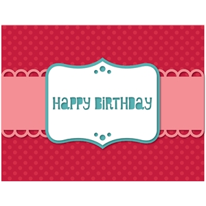 'birthday' card