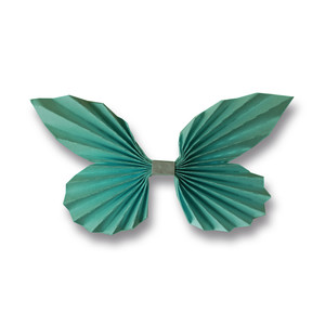 3d accordion pleated butterfly