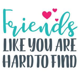 friends like you are hard to find