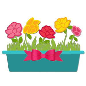 flowers with planter box