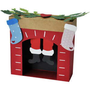 santa's feet fireplace ornament