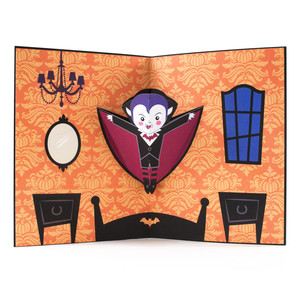 halloween vampire pop up card