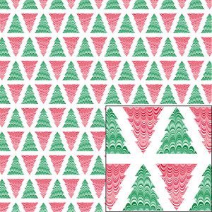 red and green marbled tree pattern