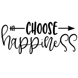 choose happiness arrow quote