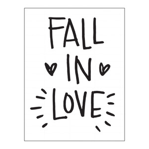 fall in love card
