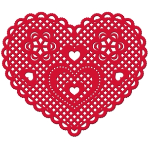doily lace heart ornate