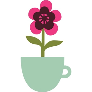 1 flower in a teacup