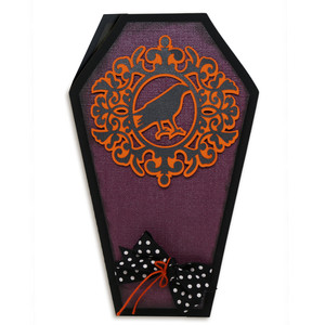 ornate bird coffin card
