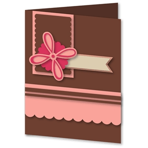 4 petal flower card kit
