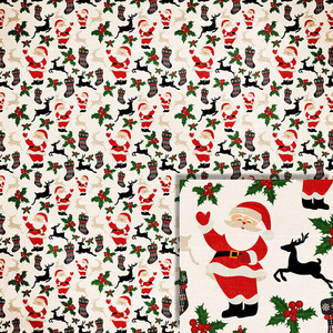 christmas santa background paper