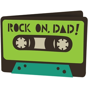 rock on, dad! card