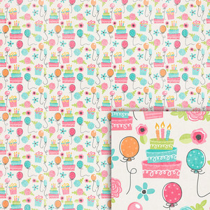birthday background paper