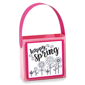 happy spring coloring treat bag