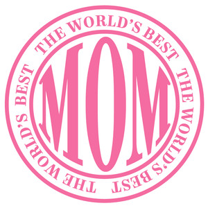 world's best mom label