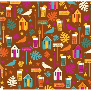 tiki beach pattern