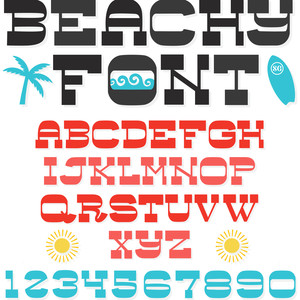 sg beachy font regular