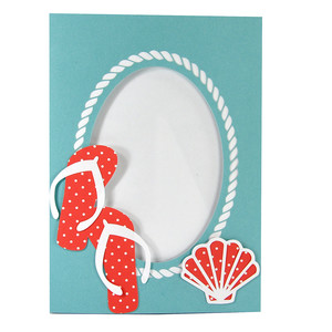 flip flop shell summer beach frame with stand