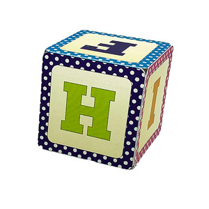 alphabet block box f g h i j