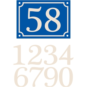 french house sign, double numbers