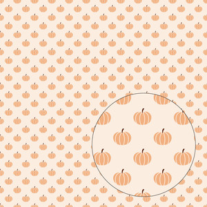 fall pumpkins seamless pattern