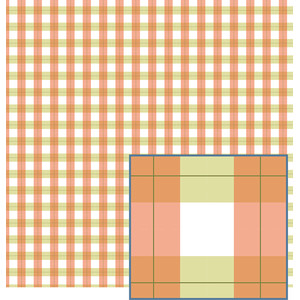 orange and green gingham pattern