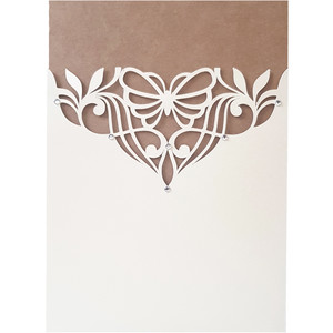 butterfly flourish card