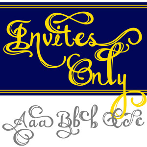invites only font