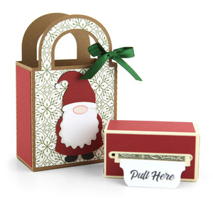 money roll gift bag set gnome
