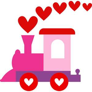 little train hearts