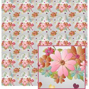flowers on white pattern