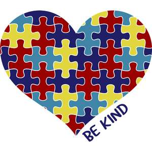 be kind autism heart