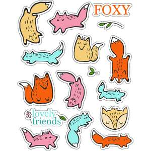 ml sweet foxy friends stickers