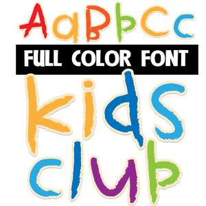 kids club color font