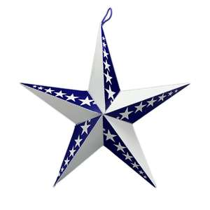3d blue and white star w/stars