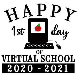 1st day virtual school 2020-2021