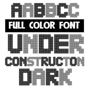 under construction dark color font