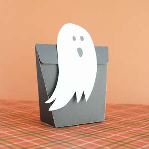 ghost fold over treat bag