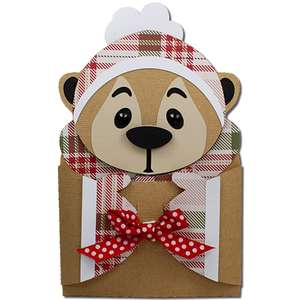 winter squirrel hug gift card holder