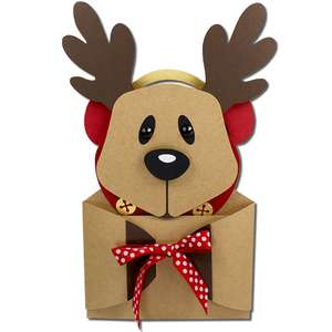 reindeer earmuffs hug gift card holder