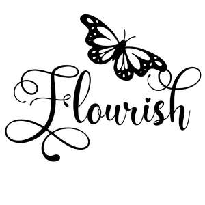 flourish butterfly word