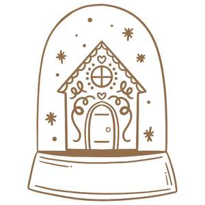 gingerbread house snow globe