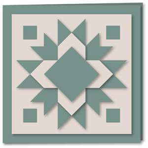 snowflake star quilt card