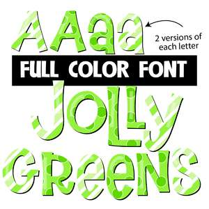 jolly greens color font