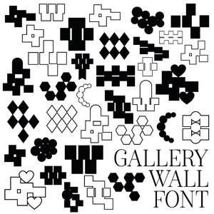 gallery wall font