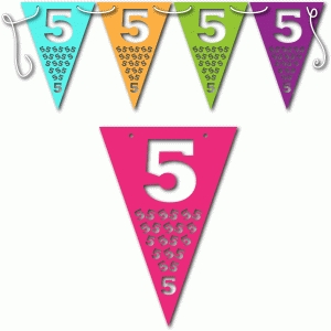 5th birthday bunting