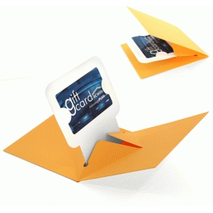 3d pop up gift card holder card