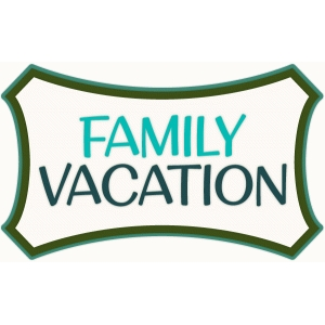 family vacation label